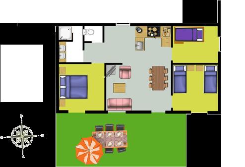 plattegrond appartement AlpeLune